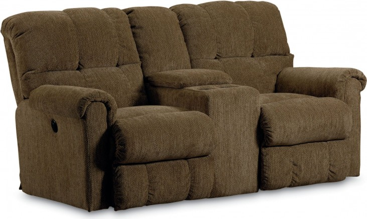 Griffin Walnut Double Reclining Console Loveseat From Lane Furniture