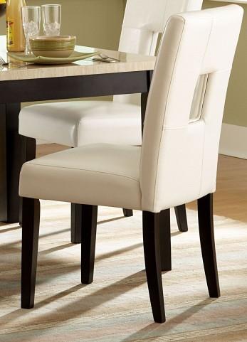 Archstone White Bi-Cast Vinyl Side Chair Set of 2
