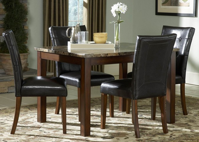Achillea Faux Marble Dining Room Set