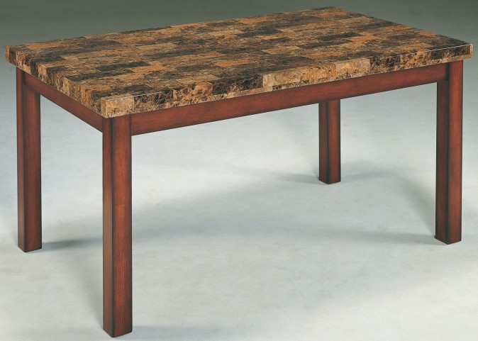 Achillea Faux Marble Rectangular Dining Table