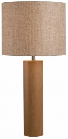 Cedro Light Wood Grain Table Lamp