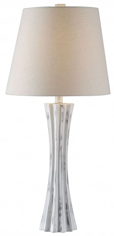 Cinch Distressed White Table Lamp