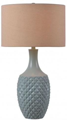 Anaya Green Teal Table Lamp