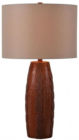 Calico Brown Textured Table Lamp