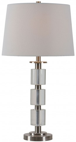 Rochelle Brushed Steel Table Lamp