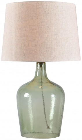 Kristen Sea Green Textured Glass Table Lamp