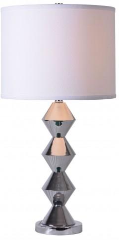 Dreidel Chrome Table Lamp