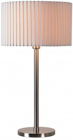 Grace Brushed Steel Table Lamp