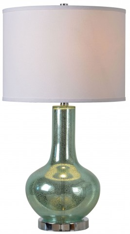 Silver Sea Teal Green Table Lamp