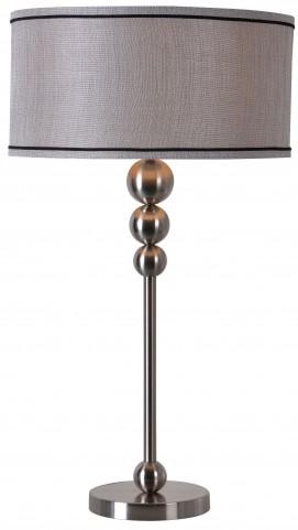 Margot Brushed Steel Table Lamp