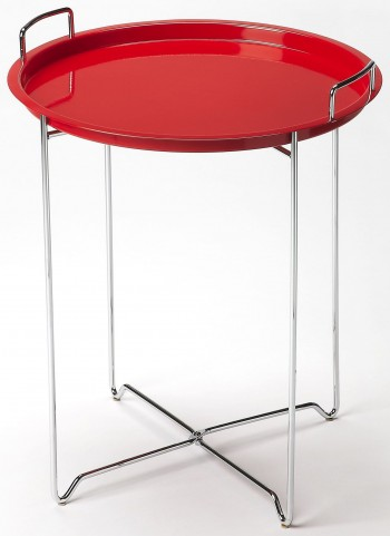 Midtown Red Tray Table