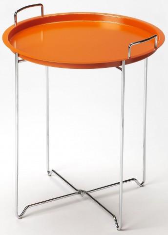 Midtown Orange Tray Table