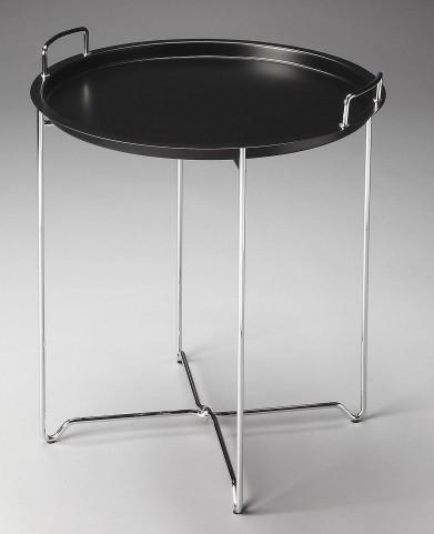 Midtown Loft Black Metal Tray Table