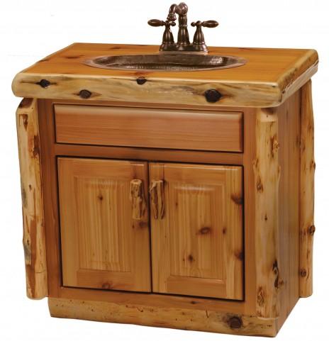 """Cedar Center Sink 30"""" Vanity With Top"""