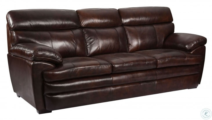 Shae Scottsdale Brown Leather Sofa