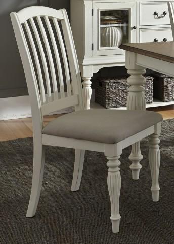 Cumberland Creek Nutmeg and White Slat Back Side Chair Set of 2