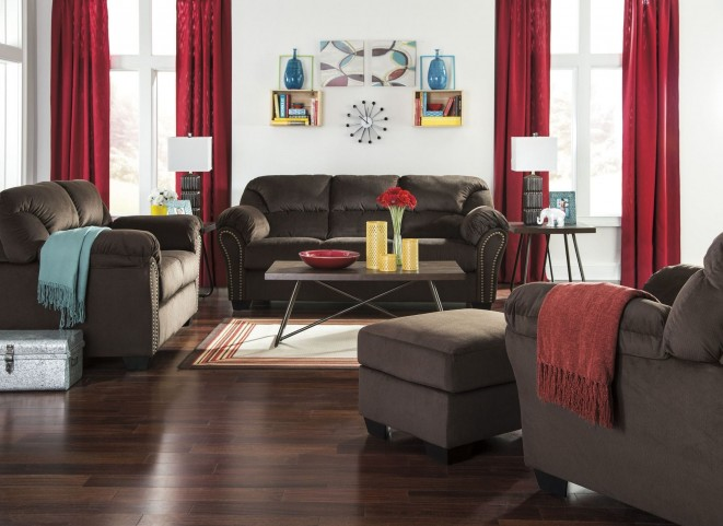Kinlock Chocolate Living Room Set