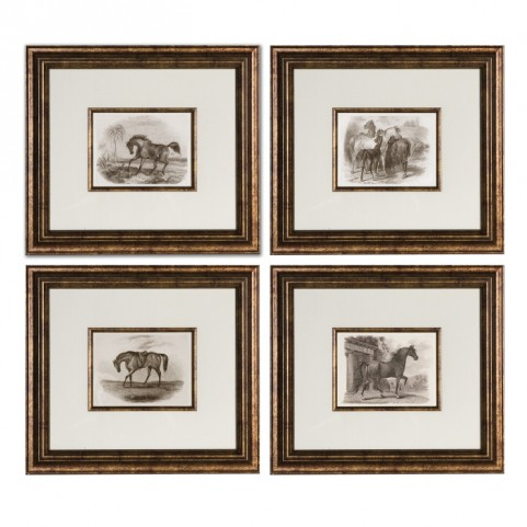 Horses Framed Art Set of 4