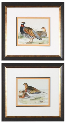Pair Of Quail Framed Prints Set of 2