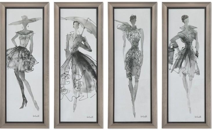 Fashion Sketchbook Art Set of 4