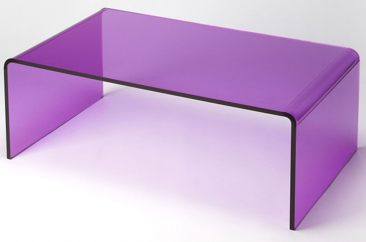Crystal Purple Acrylic Cocktail Table