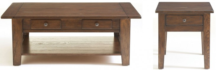 Attic Rustic Oak Stain Occasional Table Set