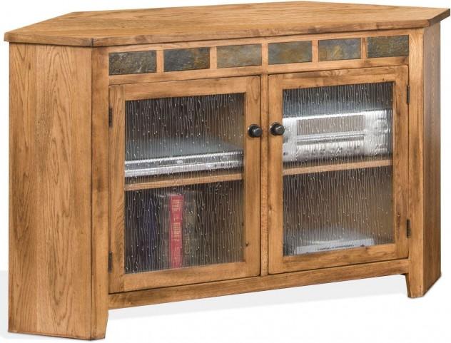 quality design b7b11 e1d1d Sedona Rustic Oak Corner TV Console