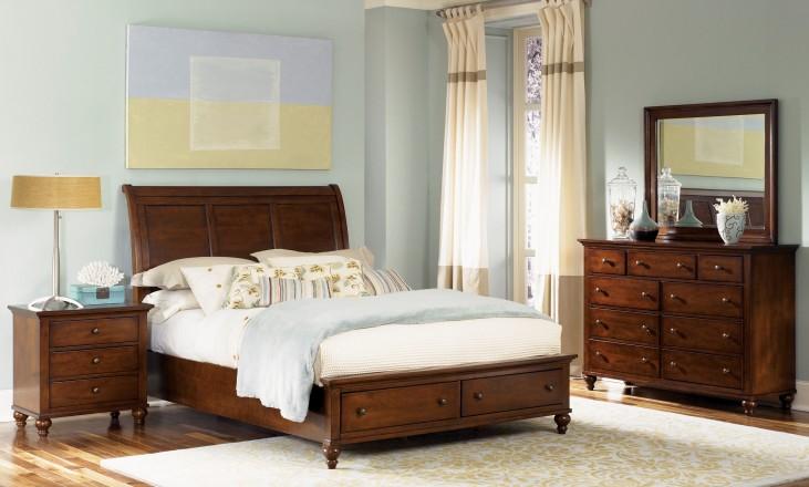 Hamilton Sleigh Storage Bedroom Set