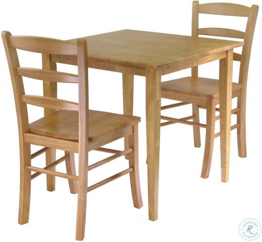 Groveland Light Oak Square Dining Set