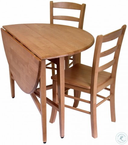 "Hannah Round 42"" Double Drop Leaf Gate Leg Dining Room Set"