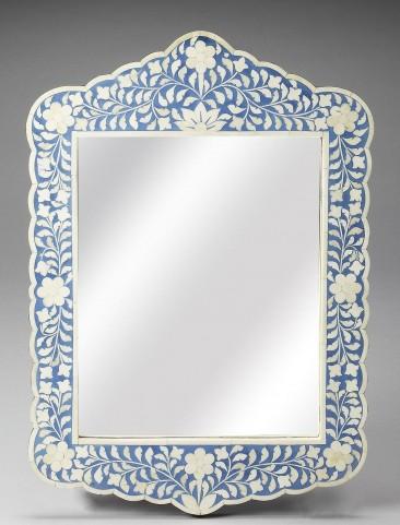 Blue Bone Inlay Wall Mirror