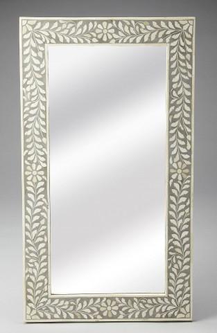3479321 Gray Bone Inlay Wall Mirror