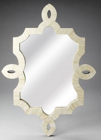 White Bone Inlay Wall Mirror