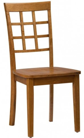 Simplicity Honey Grid Back Chair Set of 2