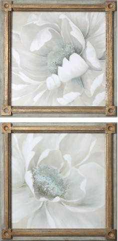 Winter Blooms Floral Art Set of 2