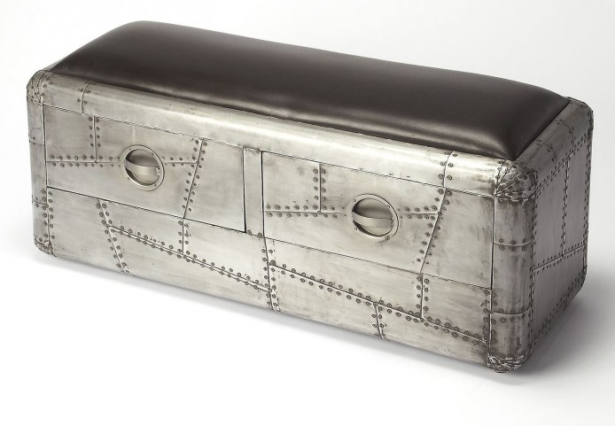 Industrial Chic Yeager Aviator Storage Bench From Butler