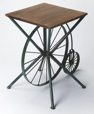 """Industrial Chic 30"""" Accent Table"""