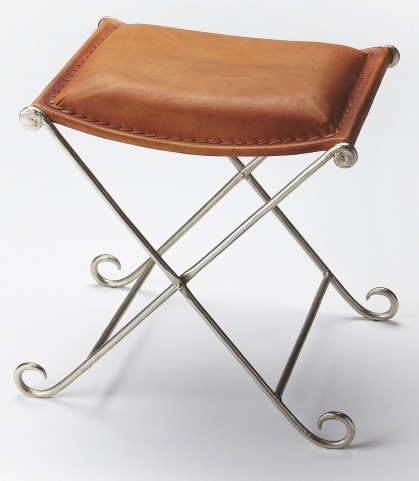 Industrial Chic Leather Stool