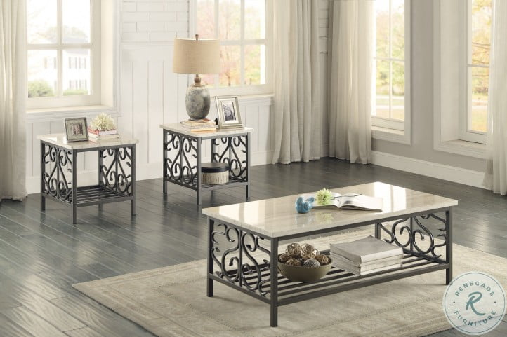 Fairhope Brown 3 Piece Occasional Table Set