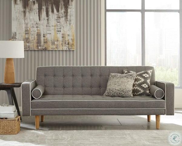Miraculous Luske Grey Woven Sofa Bed By Scott Living Inzonedesignstudio Interior Chair Design Inzonedesignstudiocom