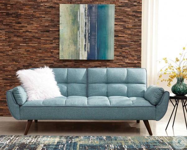 Groovy Cheyenne Turquoise Blue Sofa Bed By Scott Living Inzonedesignstudio Interior Chair Design Inzonedesignstudiocom