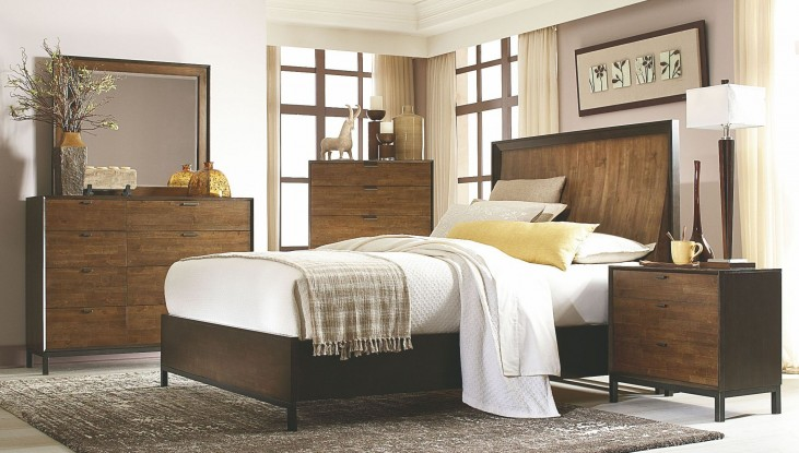 Kateri Curved Panel Bedroom Set