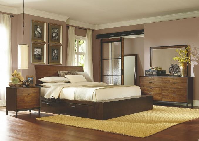 Kateri Two Underbed Storage Drawer Platform Bedroom Set