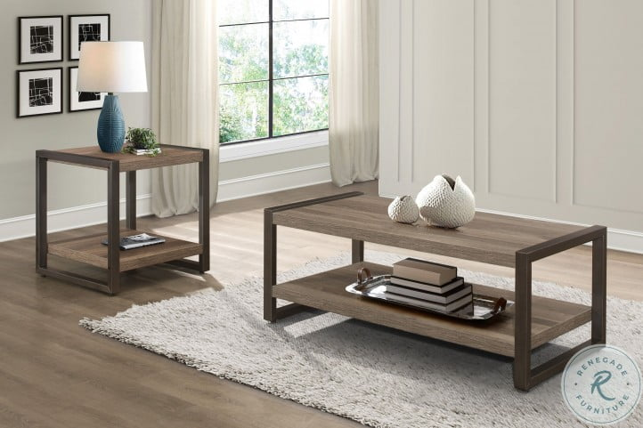 Dogue Brown And Gunmetal Occasional Table Set