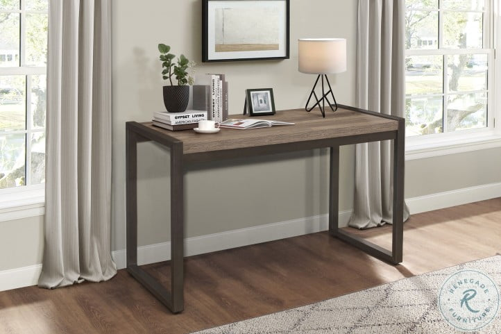 Dogue Brown And Gunmetal Writing Desk