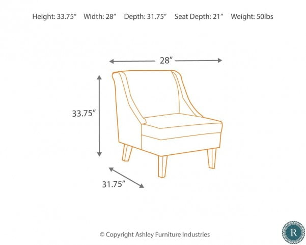 Clarinda Gray Accent Chair From Ashley 3622960 Coleman