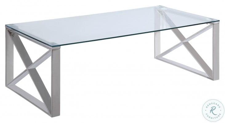Rush Chrome Occasional Table Set