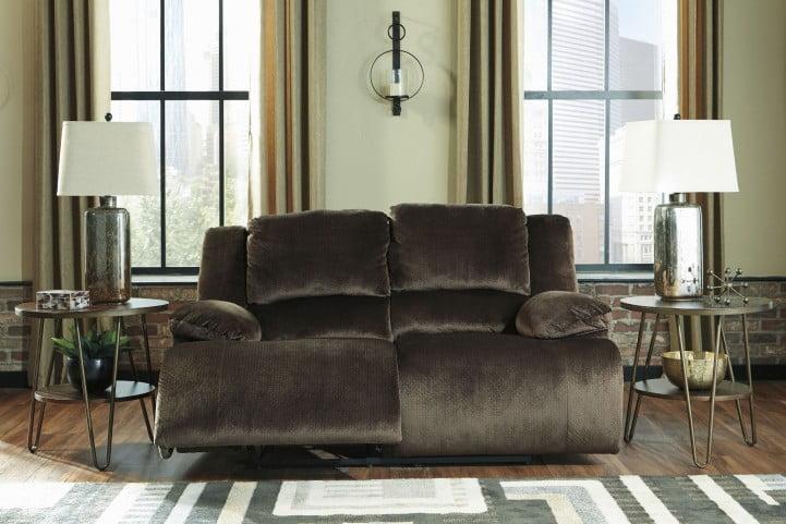 Strange Clonmel Chocolate Reclining Loveseat Inzonedesignstudio Interior Chair Design Inzonedesignstudiocom