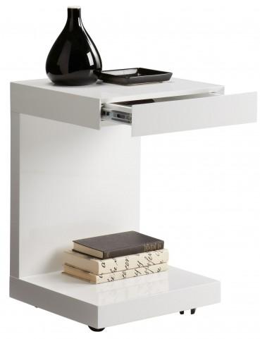 Bachelor White High Gloss Tv Table