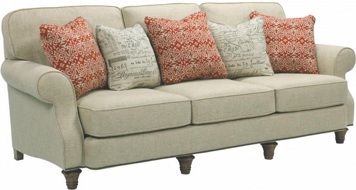 Whitfield Walnut Woven Fabric Sofa
